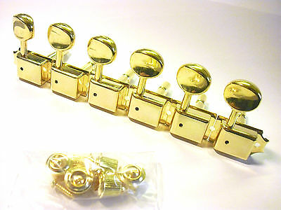 Kluson Vintage Lockheads Mechaniken 6 links gold