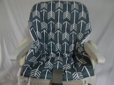 CHICCO POLLY High Chair Cover/ Charcoal Grey With Arrows