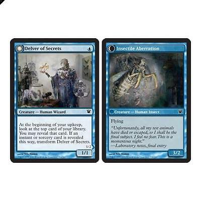 Magic The Gathering MTG Delver of Secrets | Insectile Aberration Innistrad