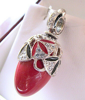 Sale ! Gorgeous Made Of Sterling Silver 925 Enamel Egg Pendant Genuine Coral