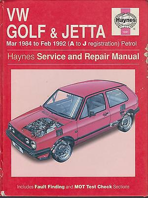 Vw Golf Mk2 1.0 1.3 1.6 1.8 Petrol Incl Gti & 16V ( 1984 - 1992 ) Repair Manual