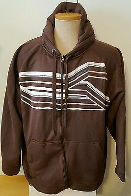 Under Armour Men's Jacket Zip Up Hooded Brown Size 2XL XXL Free Ship