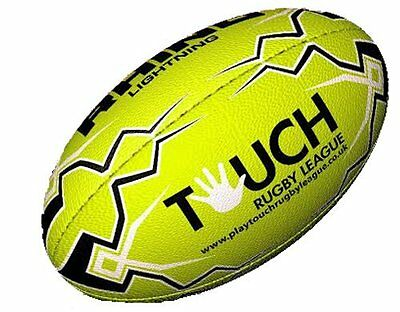 Rhino Lime Touch Rugby League Rugby Ball | RRL-TOUCH-GR