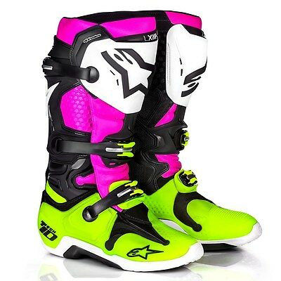 Alpinestars Tech 10 Boot LE Radiant New With Tags!  Size 10