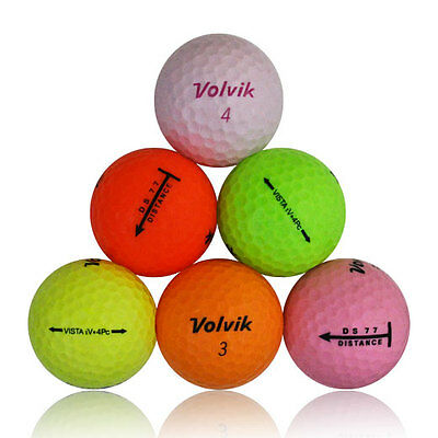 48 Volvik Color Mix Mint Used Golf Balls AAAAA