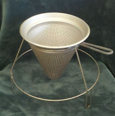 Vintage Wearever Chinois Sieve Strainer with Stand - Fully Functional