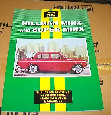 Hillman Minx And Super Minx  Road Test Reprint Book + Servicing Data. 1954/62