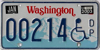 Washington 2003 Disabled Person license plate.