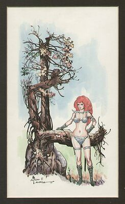 Red Sonja Color Piece - 1977 art by Alfredo Alcala