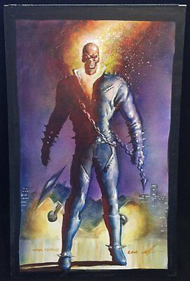 Ghost Rider Painted Art Piece - 2016 Signed art by Mark Texeira