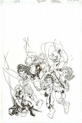 Young Justice #45 Cover - Doomsboy, Secret, Empress - 2002 art by Humberto Ramos