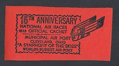 Usa 1935 2 15Th Anniversary National Air Races Cleveland Ohio Advertising Labels