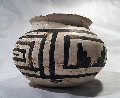 Prehistoric Native American Anasazi Black-On-White Bowl 4 Mile Ruins E. Arizona