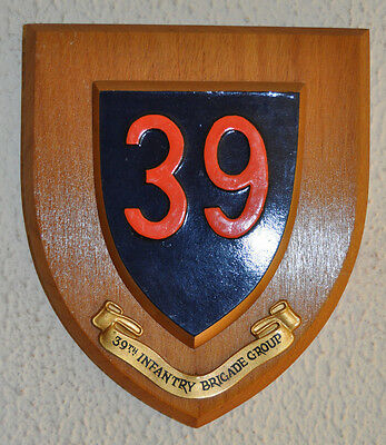 39th Infantry Brigade Group regimental mess wall plaque shield 39 British Army