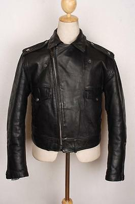 Vtg 50s WINDWARD HORSEHIDE 'One Star' Leather Motorcycle Sports Jacket Small