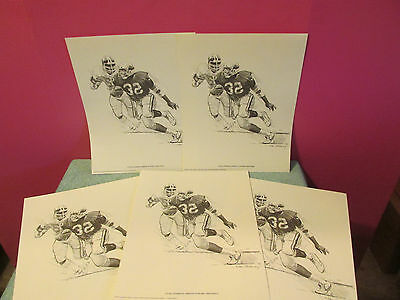 Lot 5 Ottis Anderson Shell Oil Posters St Louis Cardinals litho artwork 14 x 11""