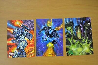 Marvel Masterpieces Trading Cards: War Machine: 1995: Set of 3 (109, 110, 111)