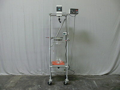 20 Liter Jacketed Lab Glass Reactor w/ Mixer, Temperature Monitor & Controller
