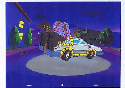 Back to the Future Original Production Animation Cel & Copy Bkgd #A15207