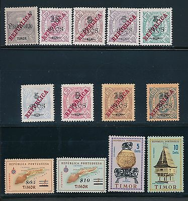1911 - 1956 Timor REGULAR ISSUES, AIRMAILS, OVERPRINTS,POSTAL TAX DUE, ETC.