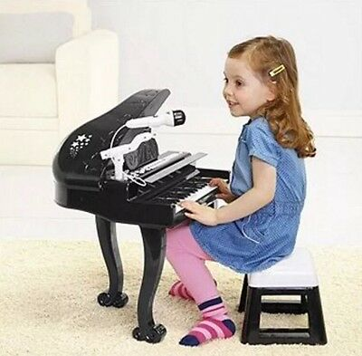 Carousel Childrens Grand Piano Keyboard With Microphone,Play Sing and RECORD.New