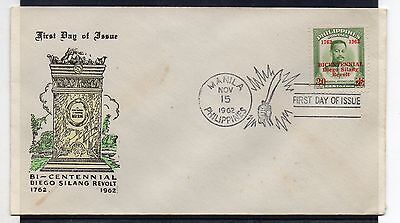 PHILIPPINES = 1962 Diego Silang Revolt FDC. Unaddressed.