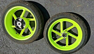 Honda CBR 900 RR CBR900RR 900RR Front Rear Yellow Wheel Rim Tire Set 98 99