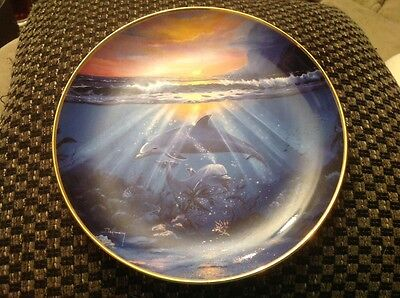 Franklin Mint Dance Of The Dolphin Collector's Plate