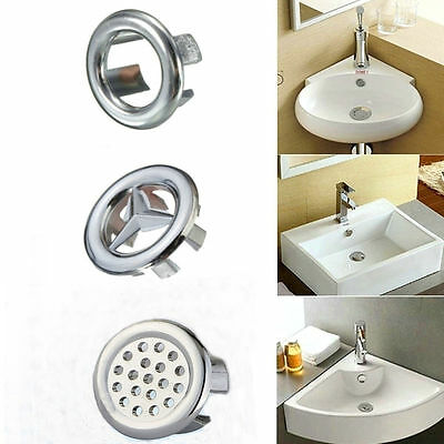 e-pak Bathroom 3 Kinds Overflow Covers-Chrome for Basin /Sink  Trim Replacement