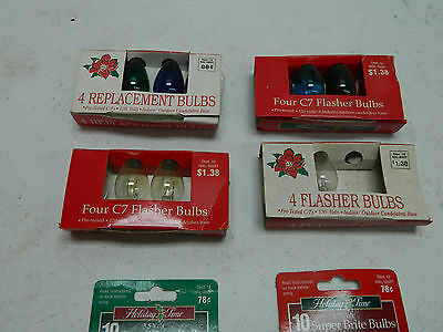 Lot of Old Christmas Tree Light Replacement Bulbs in Original Box