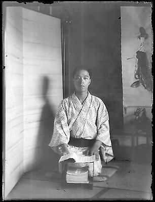 Antique Glass Negative / Young Man in Yukata / Japanese / c. 1930