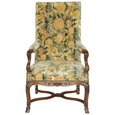 Antique Late 17th/Early 18th c. French Regence Louis XIV/XV Baroque Arm Chair