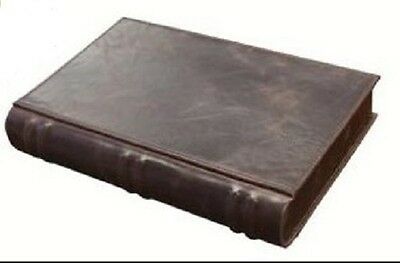 Leather Book Style Travel ~ Desk Top or on the Book Shelf 10 Cigar Humidor