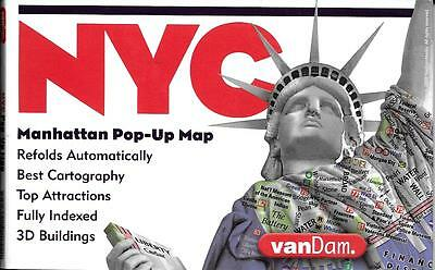 Pop-Up Map of New York City, Manhattan, New York, by VanDam Maps