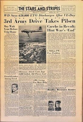 Stars and Stripes May 7 1945 - Pilsen Falls - Horthy Pleads Duped - PWs Forced