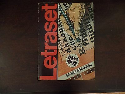 ~  Vintage Pantone LETRASET Catalog~ 1979~ PRINTING, GRAPHIC ARTS, LETTERING ~
