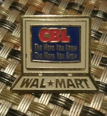 Wal-Mart CBL The More You Know & Grow Computer Metal Enamel Employee Pin Pinback