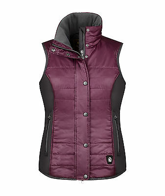 Cavallo Ladies Cavashell quilted vest Helen prune gilet windproof breathable