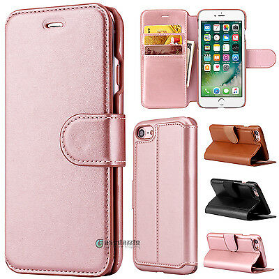 Luxury Flip Cover Wallet Card Leather Phone Case Stand for Apple iPhone 7/7 Plus