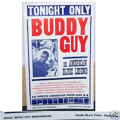 Buddy Guy! Blues Legend American Tour 2002 Poster New