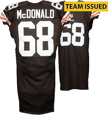 Nick McDonald Cleveland Browns Team Issued Brown #68 Jersey from the 2014 Season