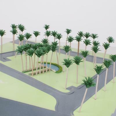 50pcs Model Coconut Trees Layout Train Railway Diorama Scenery 1:150 N Scale