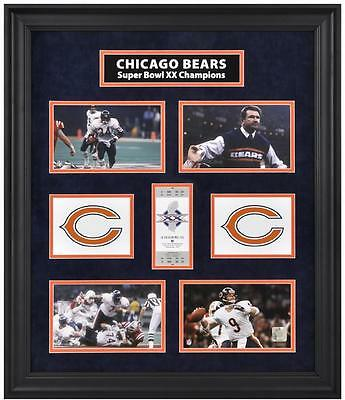 Chicago Bears Framed Super Bowl XX Photograph Collage-Limited Edition of 1000