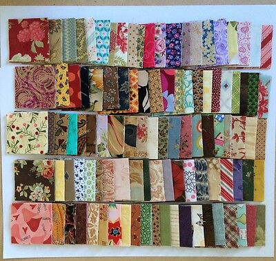 "Charm Squares 500 x 2 1/2"" Scrappy Patchwork Fabric Florals Geometrics Quilting"