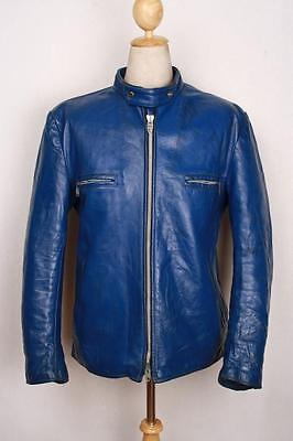 Vtg 60s BRIMACO British Cycle Leathers Cafe Racer Motorcycle Jacket L/XL