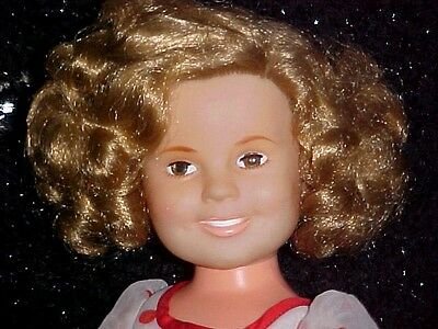 """VINTAGE IDEAL SHIRLEY TEMPLE DOLL 16"""" in ORIGINAL DRESS"""