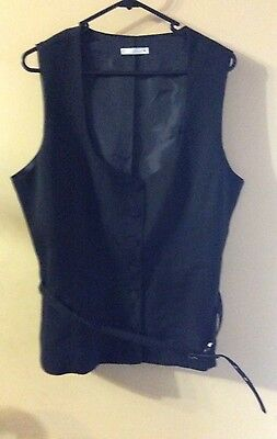Womens Size 18 TARGET Lined Sleeveless Vest With Belt