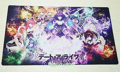 B219 FREE MAT BAG Date A Live Trading Card Game Playmat TCG CCG Play Mat