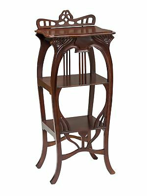 Telephone table shelf side table cabinet wood antique style table wood