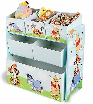 Kinderregal Spielzeugregal Bücherregal Spielzeugkiste Kinder Regal Winnie Pooh